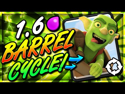 FASTEST GOBLIN BARREL DECK EVER!! 1.6 CYCLE!! THIS IS INSANE!