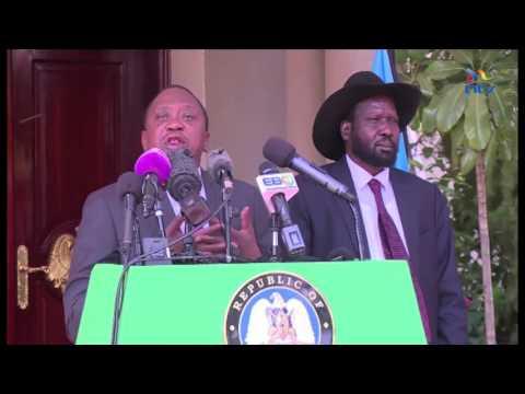 President Kenyatta tells Kiir to implement to implement reforms