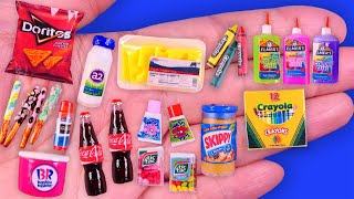 15 DIY Miniature Food, Drink and School Supplies~ Hacks and Crafts~
