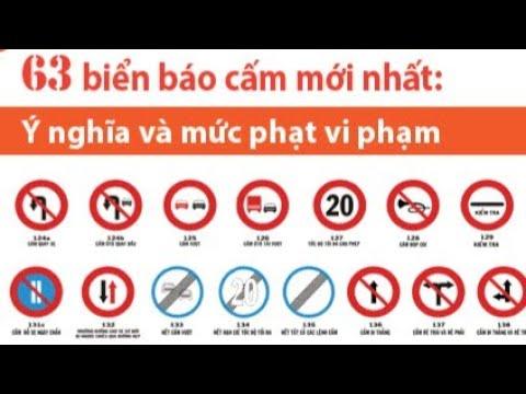 Tổng hợp biển giao thông đường bộ mới nhất năm 2019  - phần 1 biển báo cấm