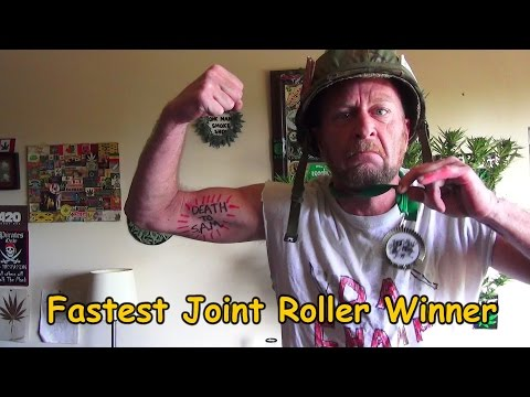 DaWeedKing Wins Fastest Joint Roll Competition, Prairie Cup, Sask Canada, 2015