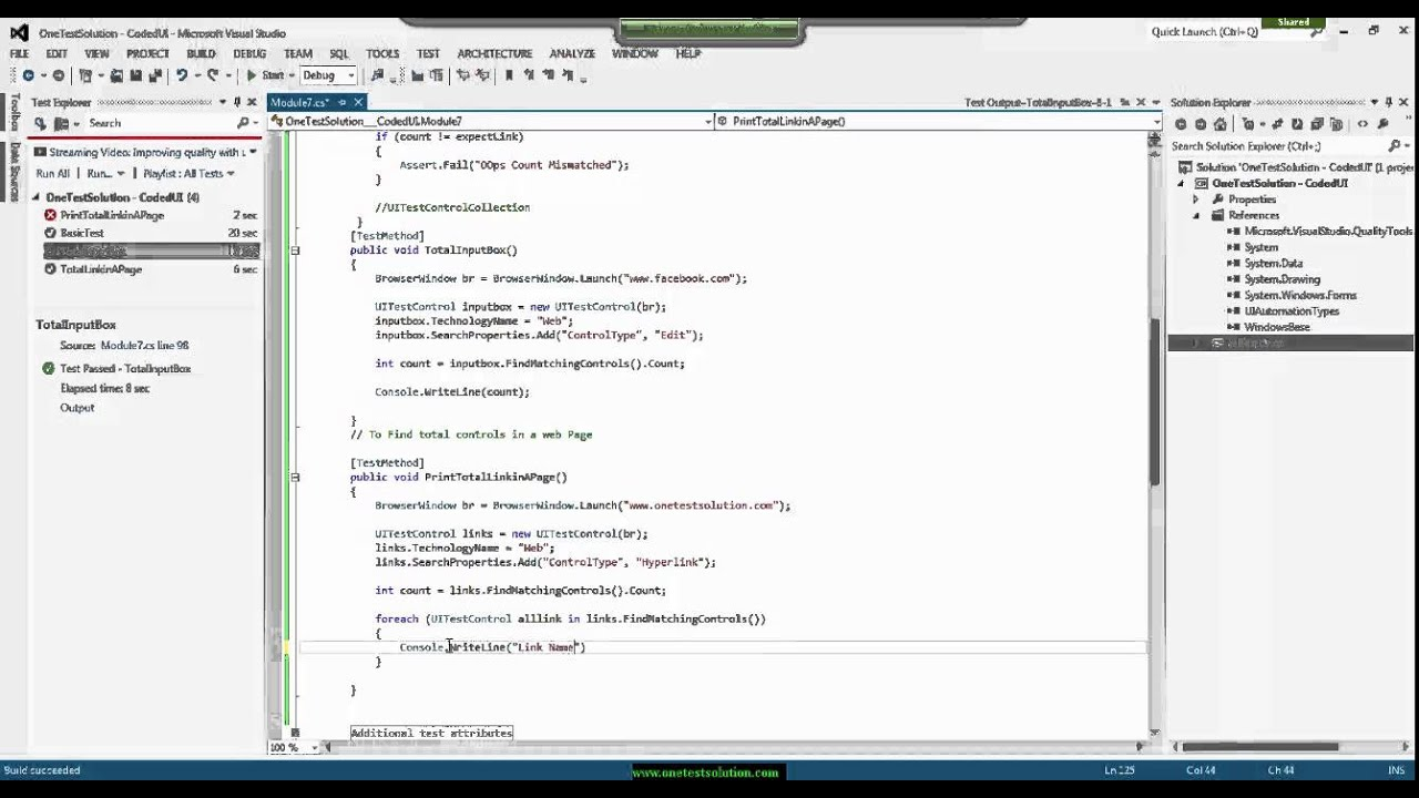 Topic 7 Hand Coding in CodedUI Test using C# Part 2