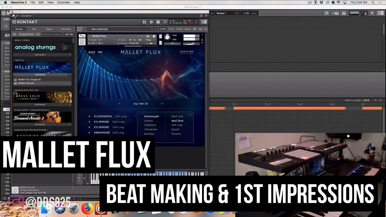 Mallet Flux Beat Making & 1st Impressions (Native Instruments