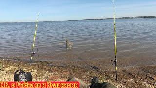 Рыбалка на озере Кандрыкуль с берега на донки какая там красота Ловим рыбу на донки