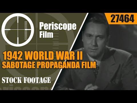 1942 WORLD WAR II  SABOTAGE Propaganda Film  DON'T TALK  27464
