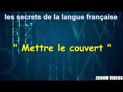 les secrets de la langue française : mettre le couvert - youtube