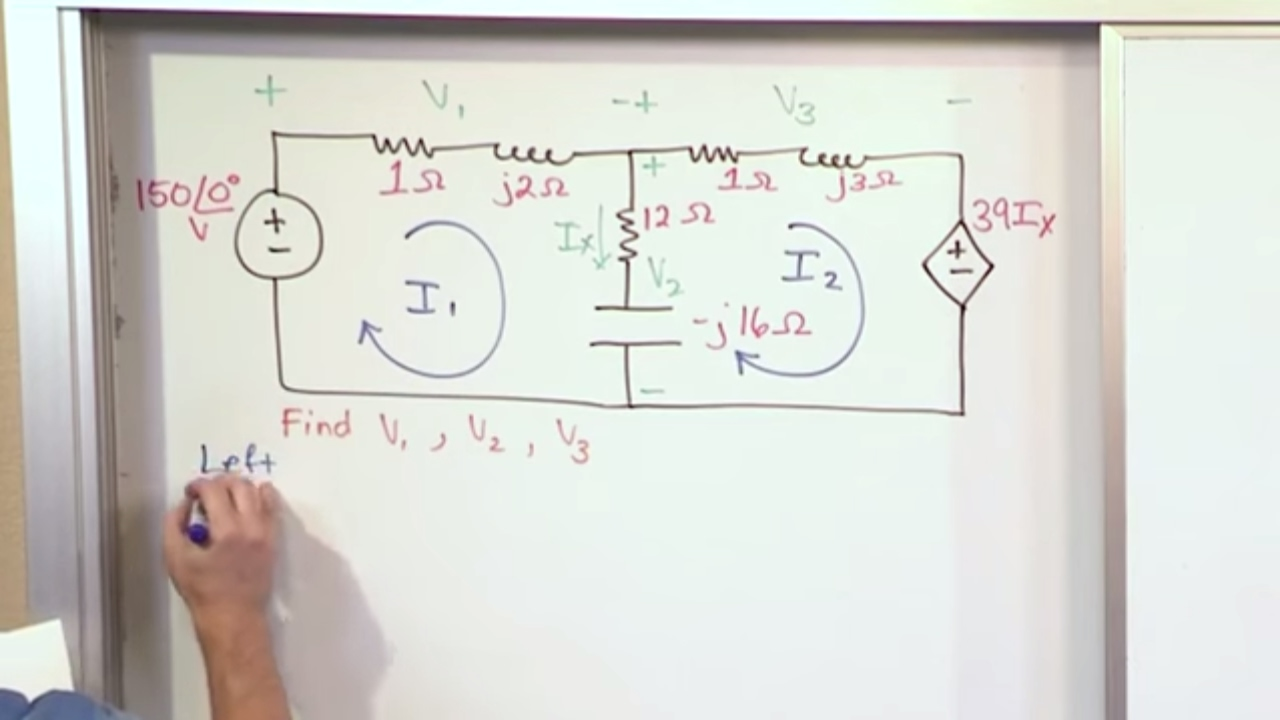 Lesson 12 Ac Mesh Currents Part 1 Circuit Analysis Youtube Ohms Law In Series Circuits For Automotive Troubleshooting