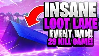 INSANE 29 KILL SOLO WIN! LOOT LAKE EVENT! (Fortnite Battle Royale)