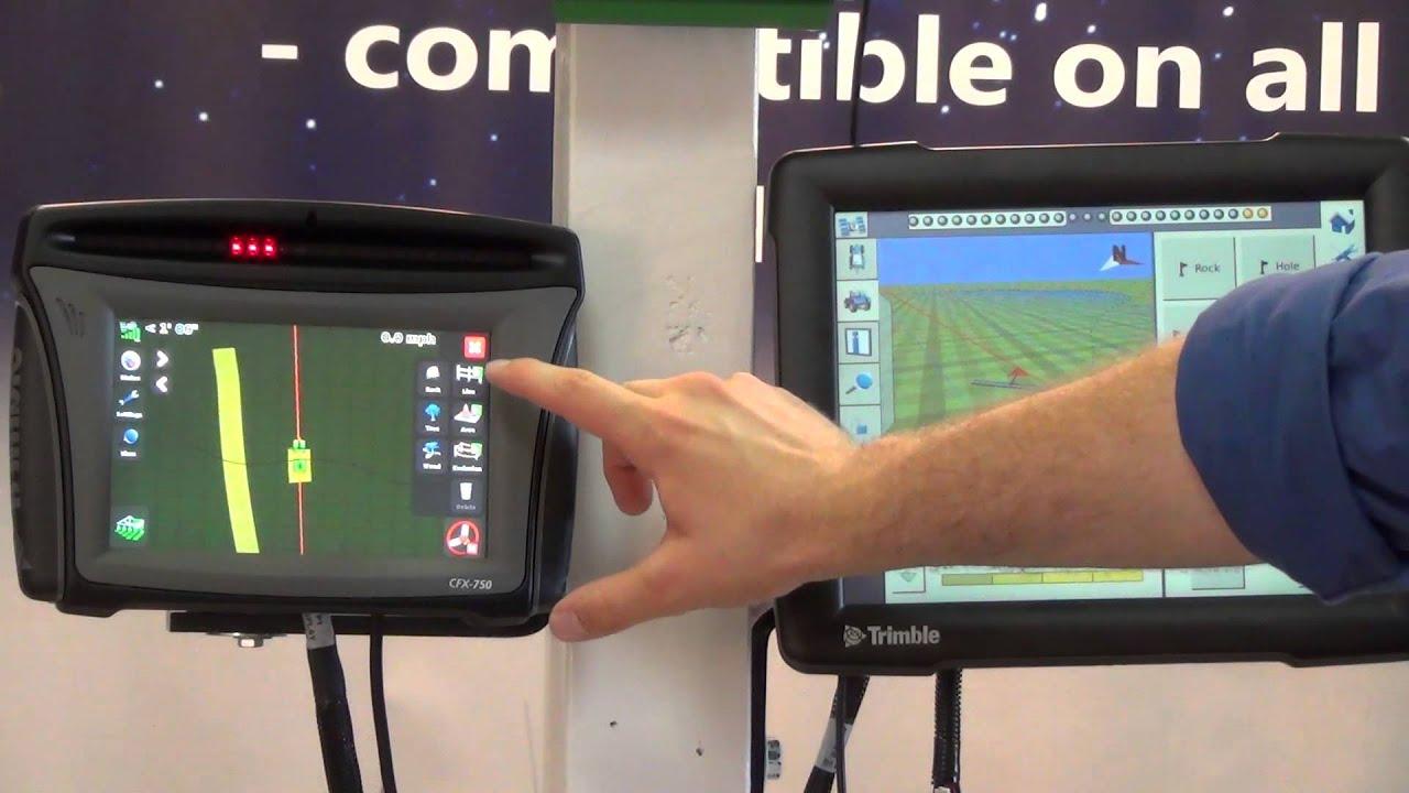 Trimble FMX and CFX-750 Display Comparison
