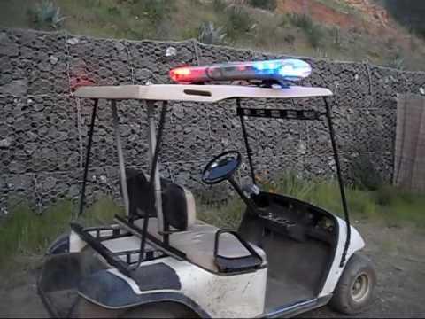 Police Lightbar On A Golf Cart Youtube