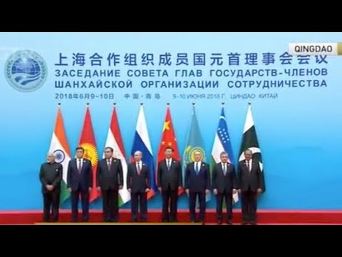 President Xi Jinping welcomes leaders of SCO