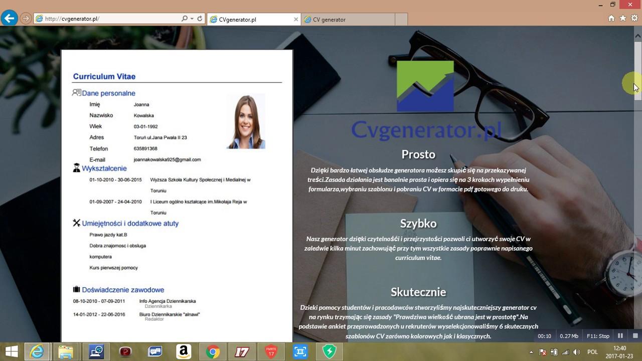 jak napisa u0107 cv   cvgenerator pl - program do pisania cv   wzory cv