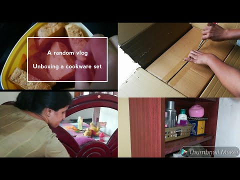 A random vlog on Sunday    My cleaning routine    Unboxing a cookware set