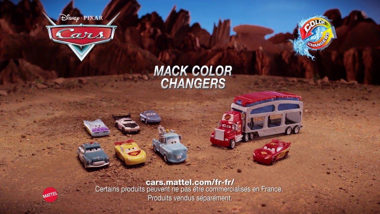 Mattel Disney Cars ckd34-jeu de passes gringue changement de couleur Station