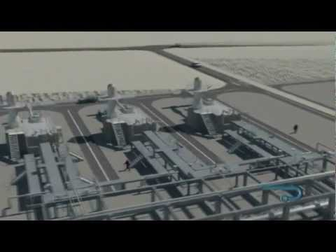 Proceso de Regasificación de GNL en 3D