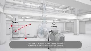 Video: Inversor de frequência ACQ580 para água e saneamento: Cálculo de vazão sem sensor