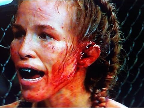 Leslie Smith's Ear EXPLODES at UFC 180