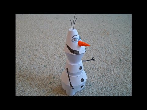 Papercraft Paper Model of Olaf the Snowman from the Movie