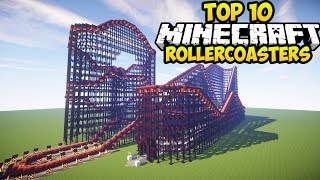 TOP 10 MINECRAFT ROLLER COASTERS IN MINECRAFT! (Minecraft Best Rollercoasters)