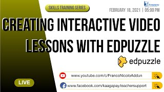 Skills Training Series | Creating Interactive Video Lessons Using Edpuzzle + Gclass Integration