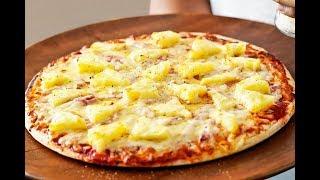 пицца гавайская с курицей и ананасами