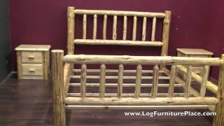 Wilderness Log Bed From Logfurnitureplace.com