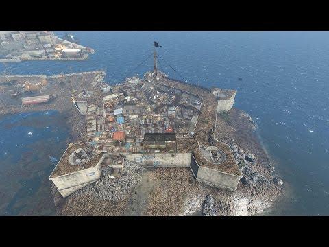 The Castle settlement build: Pentagon City. Fallout 4 (with mods / DLC)