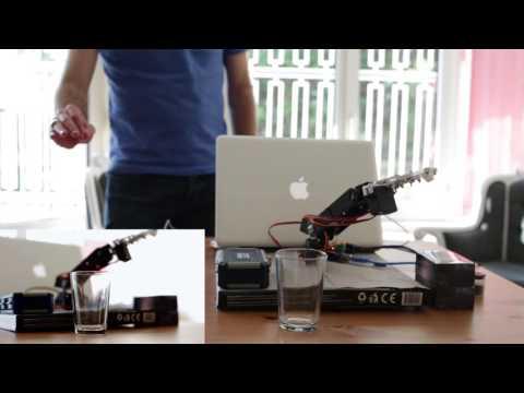 Robotik Kol Kontrolü - Gesture Controlled Robotic Arm (using Leap Motion)