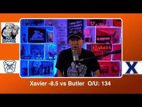 Xavier vs Butler 2/21/21 Free College Basketball Pick and Prediction CBB Betting Tips
