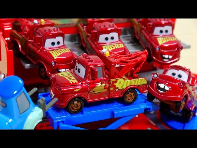 DISNEY CARS CRASHES!REPAIR TO A CLEAN METER | カーズ ディズニー クラッシュ グイドが綺麗なメーターになおしてくれたよ 子供向け