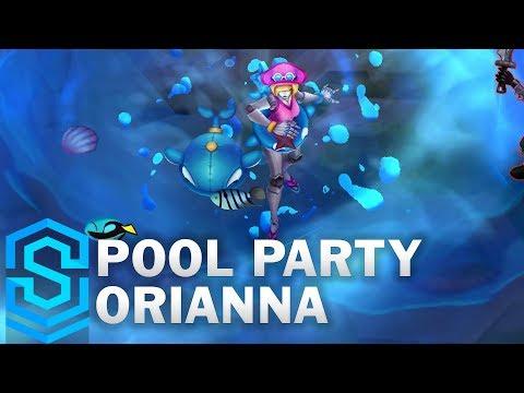 Pool Party Orianna Skin Spotlight - Pre-Release - League of Legends