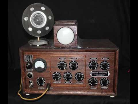 First Electronic Television - Farnsworth's 1929 Receiver and Camera