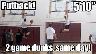 "PUTBACK DUNK!!! + Fastbreak - 5'10"" #313 Dunk Journey 2.0"