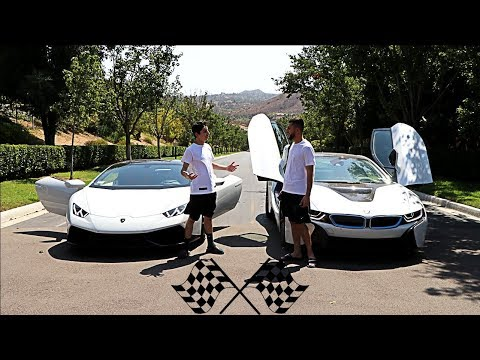 LAMBORGHINI VS BMW i8 RACE!! (INSANE)