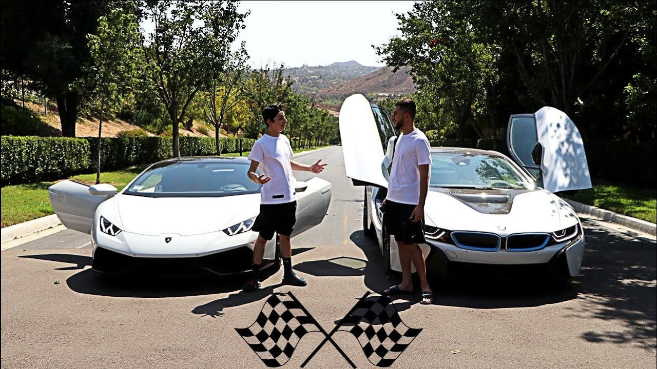 Lamborghini Vs Bmw I8 Race Insane Faze Rug Youtube