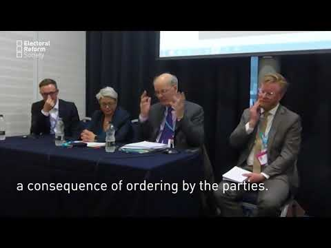 Prof John Curtice - First Past the Post and Empowering Voters
