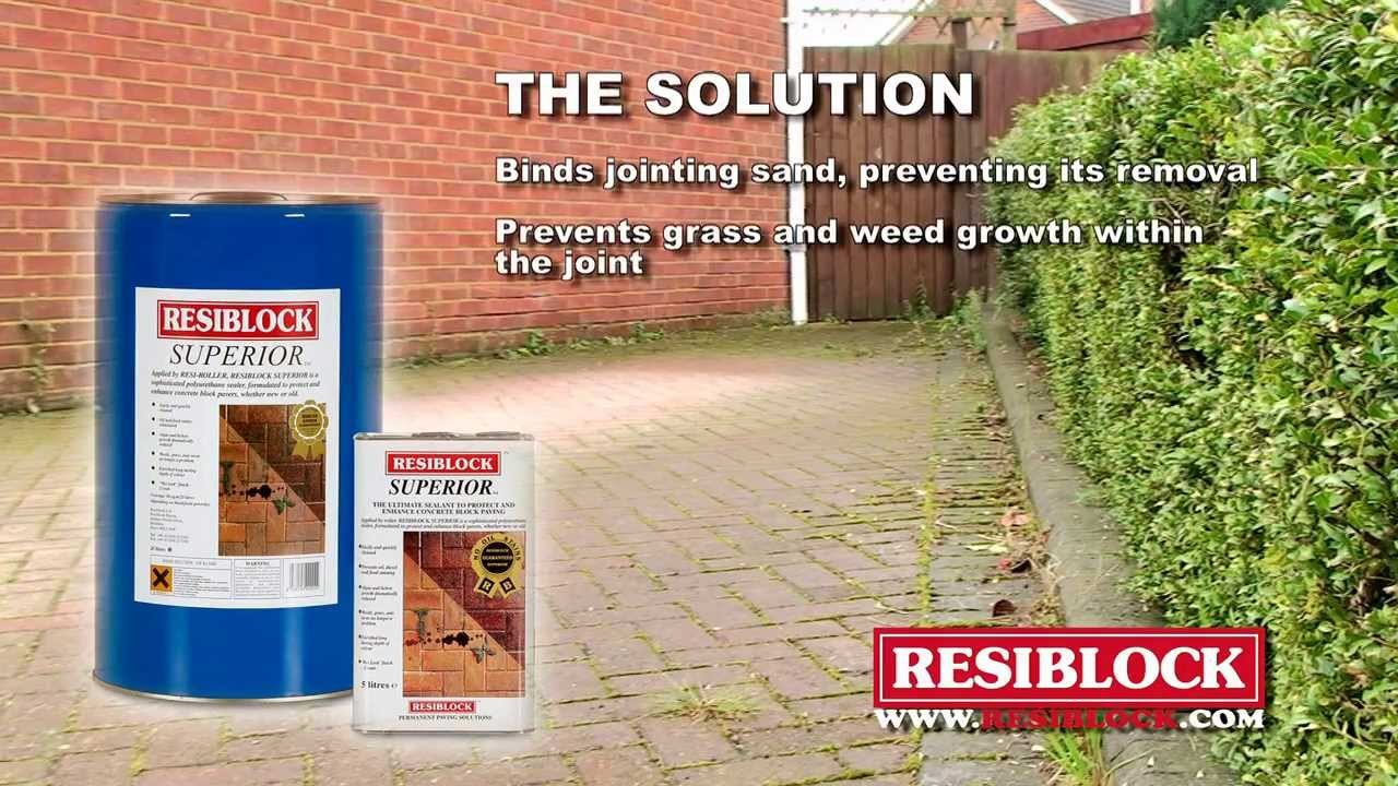 resiblock superior concrete block paving sealer patio sealing