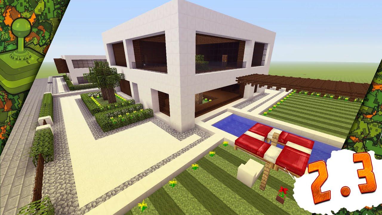 Minecraft construindo um sonho casa moderna 2 pt3 youtube for Casa moderna minecraft 0 10 4