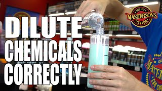 How To Dilute Detailing Chemicals - Masterson's Car Care - Auto Detailing