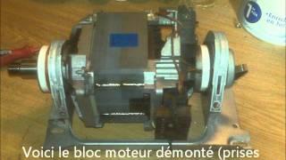 Changer les charbons d'un moteur de machine à laver