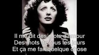 'Edith Piaf'. 'La vie en rose'