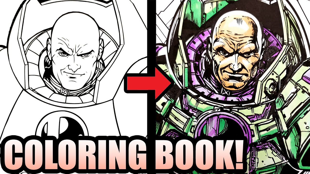 - 🔥DC COMICS ARTIST INKS & COLORS A 🎨 COLORING BOOK! (SATISFYING