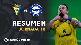 Resumen de Cádiz CF vs Deportivo Alavés (3-1)