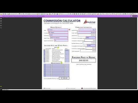 Custom PDF Completion - Commission Calculator