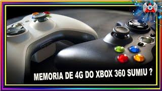 [360] • Minha Memoria interna de 4G do meu Xbox 360 Sumiu e Agora ?