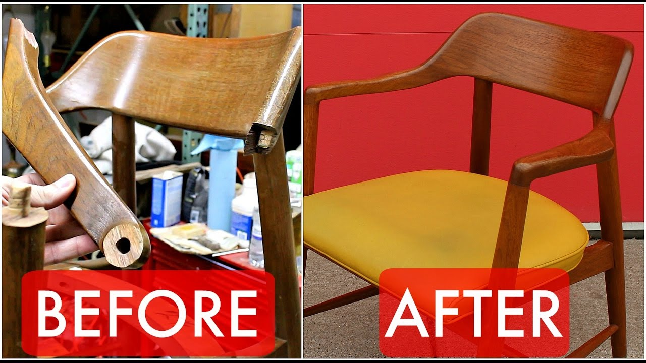 Refinish Repair A Mid Century Walnut Chair