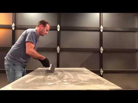 Simulated concrete epoxy table top