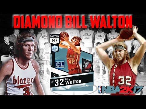 DIAMOND BILL WALTON THE OG!! THE WOLFMAN FEASTS!! NBA2K17 MYTEAM REVIEW