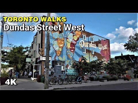 Toronto Walks - Dundas Street West Through Little Portugal [4K]