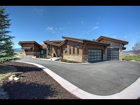 New Mountain Contemporary Estate In Park City Utah Youtube